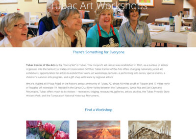 Tubac Art Workshops website